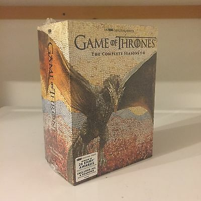 New Sealed Game Of Thrones Complete Series Season 1-6 (1,2,3,4,5,6) Dvd Boxset.