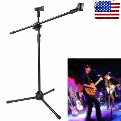 White Condenser Microphone Mic Studio Recording Mic + Boom Stand + Filter Kit EA