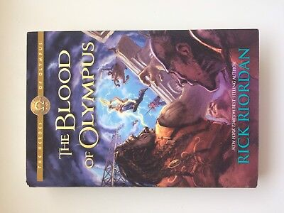 The Heroes Of Olympus: The Blood Of Olympus, Hardcover, Signed By Rick Riordan