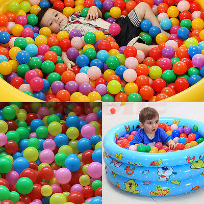 10/50/100pcs Swim Fun Colorful Soft Plastic Ocean Ball Secure Baby Kid Pit Toy