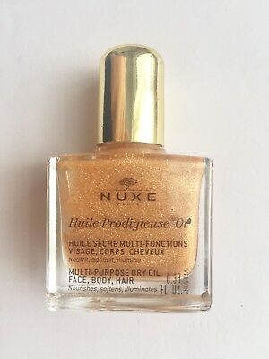 NEW NUXE Huile Prodigieuse OR Multi Dry Oil Golden Shimmer Face/Body/Hair 10ml