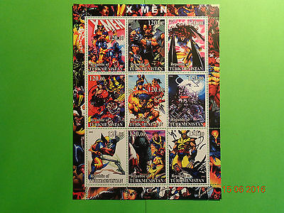 9 er Briefmarkenblock ungestempelt X - Men 2001
