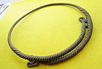 Viking Bronze Neck Torc Twisted Decorative