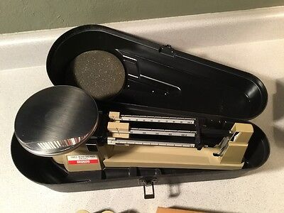 OHAUS Triple-Beam Balance Scale 2610 + Hardcase (Rare) and Extra Weights – EUC