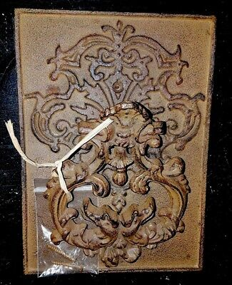 Antique Cast Iron DRAGON Door Knocker on Plate VG ~ two dragons