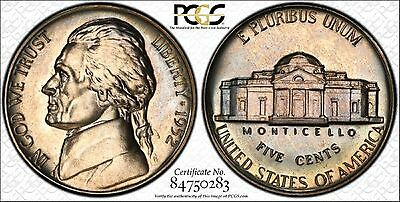 1952 Jefferson Nickel Graded Pr65 Re Engraved Obverse Fs-403 By Pcgs & Color