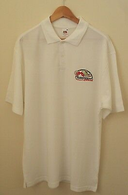 Mens White Heavy Weight Equestrian 'tweseldown' Polo Shirt Size Xl