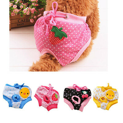 Pet Dog Puppy Diaper Pants Physiological Sanitary Short Panty Pet Underwear S M