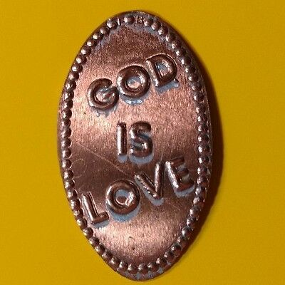 GOD IS LOVE Religion Religious Elongated Pressed Penny Coin