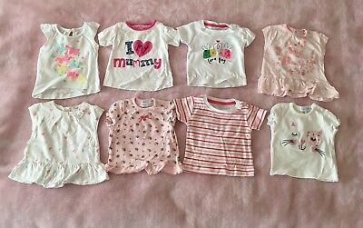 Short Sleeve Top Bundle. Size 0-3 Months/ Up To 3 Months.