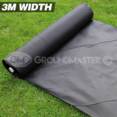 3M Wide Groundmaster Weed Control Fabric Landscape Ground Cover  Membrane