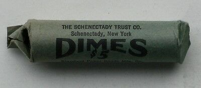 1967 BU Roosevelt Dimes  * Bank Paper  *  Roll of 50 Coins * LAST ONE *