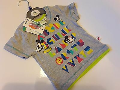Disney Mickey Mouse Baby  ABC T Shirt Tee BNWT New  24m. Character