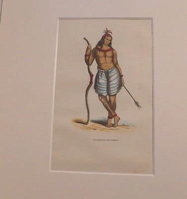 hand colorierte Lithografie 19. Jhdt. Native from Formosa