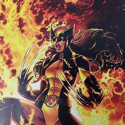 All New Wolverine #9 Joyce Chin 1:25 Variant X-23 Laura In Fire Marvel 2016