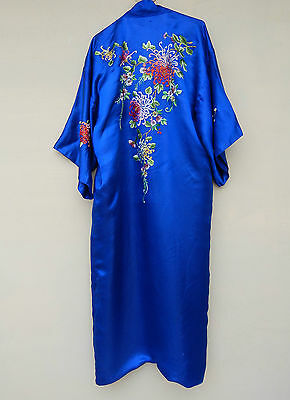 Antique Chinese Silk Hand Embroidered Robe Kimono Robe Textile #7