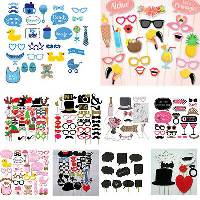 Christmas Baby Shower Photo Booth Props Masks Boy Girl Wedding Birthday Party