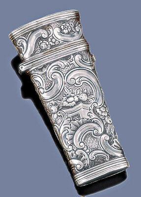 Rare Sterling Silver Repousse Necessaire C. 1750s