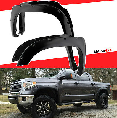 3x Strength 2014-2018 Toyota Tundra Fender Flares Pocket Rivet Bolt On 4pc Kit