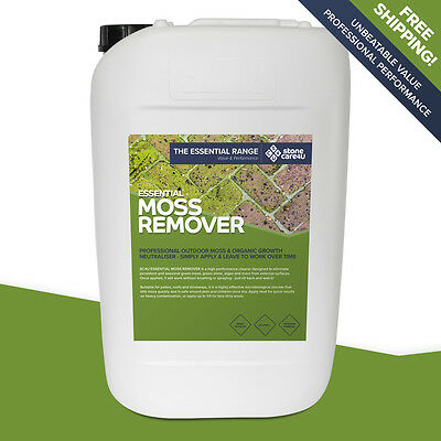 Stonecare4u Essential Moss Remover 25L trade size - Clean & long-term protection