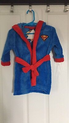 BNWT baby Boy Dressing Gown 3-6months Superbaby