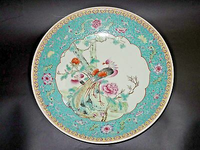 Magnificent famille rose hand painted chinese porcelain charger dish perfect con