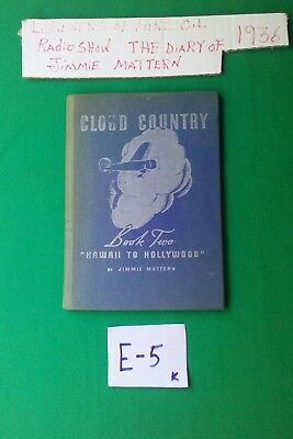 Vintage 1936 Pure Oil Radio Show Cloud Country Book (Book Two) (E-5)