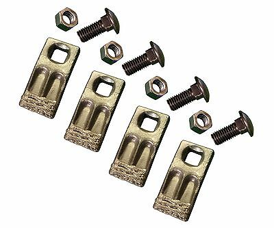 4 - Square Hole Replacement Hardfaced Auger Teeth w/ Hardware - BC58F-HF-I