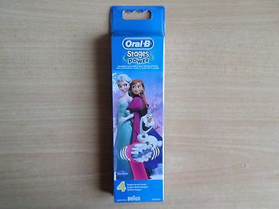 Braun Oral B Stages Power Toothbrush Heads Frozen 4 Pack