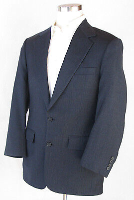 BROOKS BROTHERS Dark Blue Wool 2 Button Sport Coat Jacket Blazer, Sz 39R