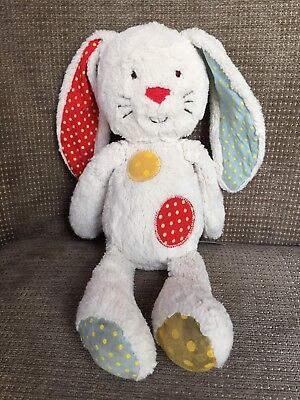 Mothercare cream Patches 'My First Bunny ' Rabbit Comforter Soft Hug Toy