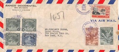 EL SALVADOR - Airmail Cover sent to New York, USA - May 27th 1941