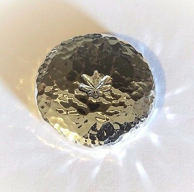 Hemp Leaf - 1 Troy Oz .999 Fine Silver Art Round  - Hand Poured - Hand Stamped
