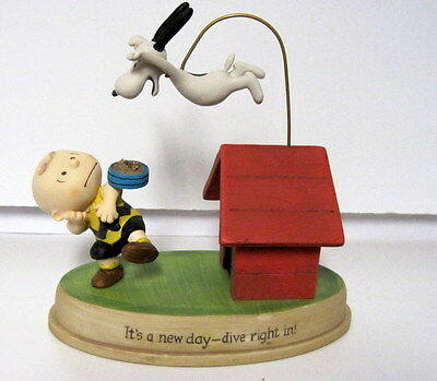 Hallmark Collectible Peanuts Gallery Figurine It's a new day-dive right in!
