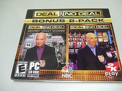 Deal or No Deal Bonus 2 Pack PC Game 2009 *NEW FACTORY SEALED *