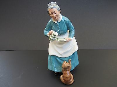 Royal Doulton .H.N. 2249. The Favourite.Lady pouring milk for her cat,