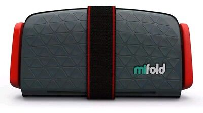 Mifold Grab-and-Go Car Booster Seat Slate Grey/Red  04/22/2016