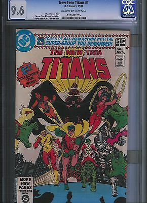 New Teen Titans # 1 CGC 9.6 Cream to Off White Pages. UnRestored
