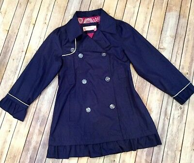 Hawk & Co. Fall Autumn Jacket Coat Navy Blue Girls Size 10/12