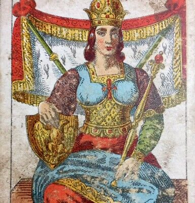 The Empress 19th Century Historic Antique Tarot Playing Cards Italian Single
