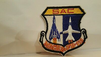 USAF FB-111 Mach 2+ Color Patch 3 1/4 x 3 1/4 inches
