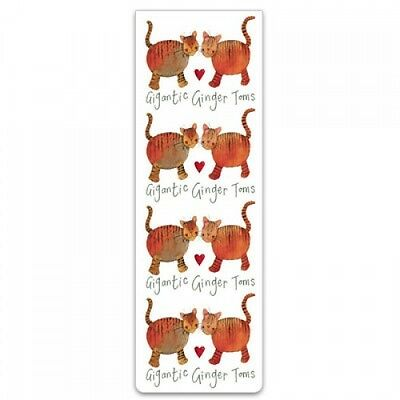 "Alex Clark Magnetic Bookmark Cat Kitten ""Gigantic Ginger Toms"" Great Gift"
