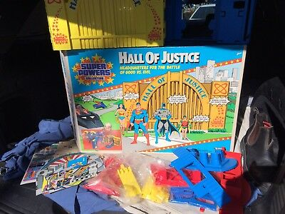 Super Powers Hall Of Justice Playset By Kenner