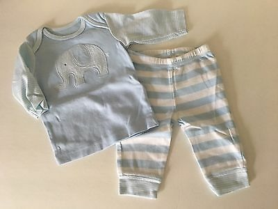 K* Boys CARTERS 2 Piece Outfit BODYSUIT & PANTS 3 MONTHS SET ELEPHANT