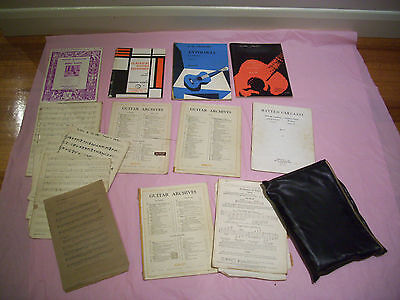 Classical Guitar Music Books VINTAGE The lot!