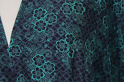 Lularoe Joy Vest  Size XL Purple and Teal Flowers and Lace Look