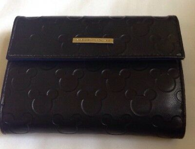 Mickey Mouse Black Patent Leather Wallet With Signature Mickey Mouse Logo