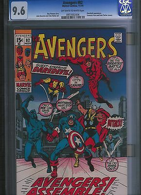 Avengers # 82 CGC 9.6  Off White to White Pages. UnRestored.