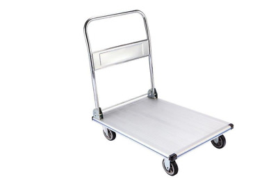 "AdirOffice Folding Aluminum Platform Truck - Flatbed Cart - Single Handle - 5"" N"