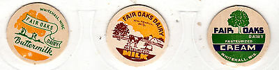Lot Of 3 Different Fair Oaks Dairy Whitehall Wi Wisconsin